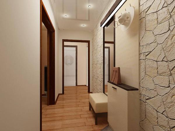 Дизайн коридора узкого фото