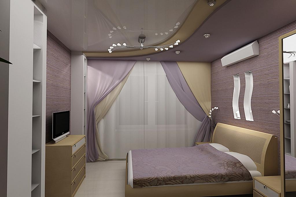 Потолок в маленькой спальне фото