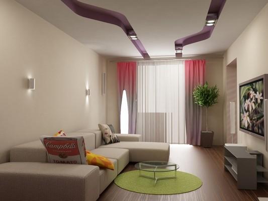 Дизайн простой гостиной