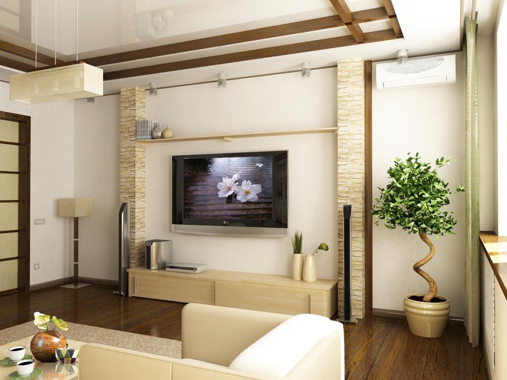 Дизайн гостиной оформление стен